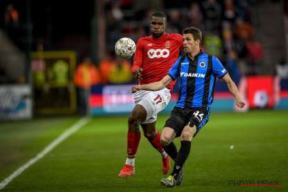 Brandon Mechele in duel met Oulare