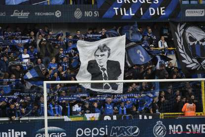 Spandoek Ernst Happel in de Noordtribune